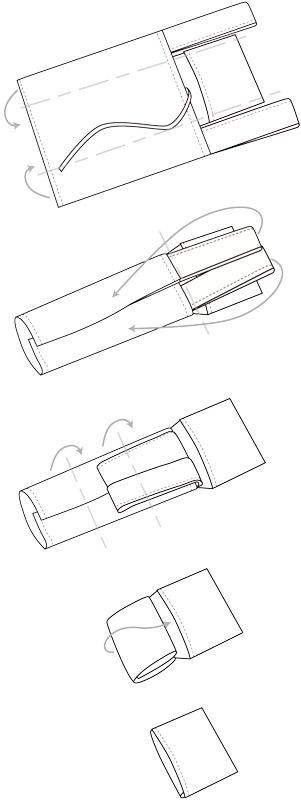 ブロックプリントポケッタブルバッグS(3カラー) H21S307