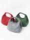 【SALE】ウールナイロン刺繍 フォーチュンバッグS(3カラー) H20W013