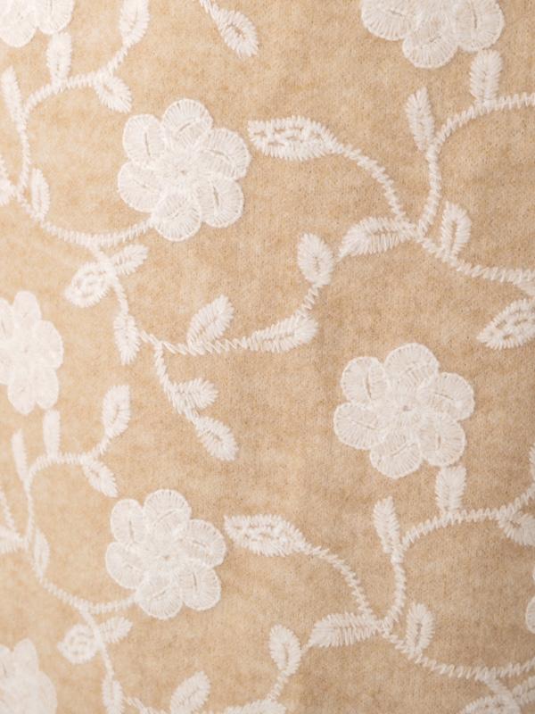 フラワー刺繍 ショートコート 21W072