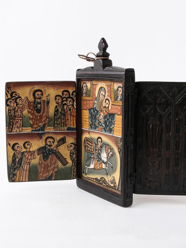 *エチオピア 木製イコン(正教画)A
