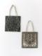 ラグ柄刺繍フラットトートバックS(2カラー)H20W006