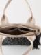 【SALE】ラグ柄刺繍ファスナー付手提げバック(2カラー)H20W007