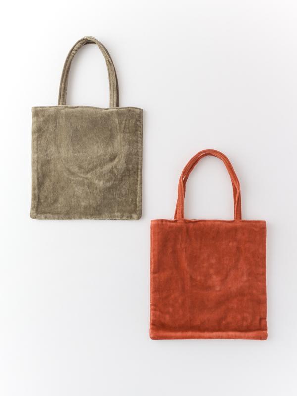 【SALE】コットンベロア刺繍フラットバック(2カラー) H20W009