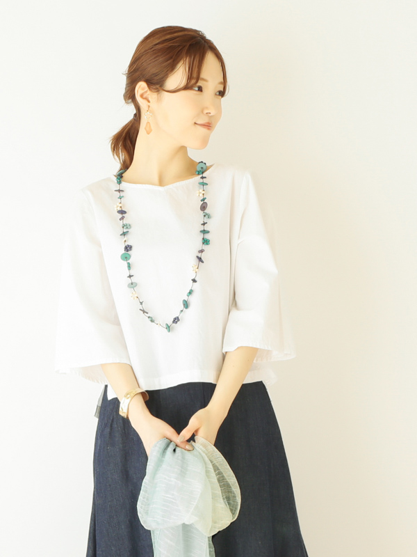 【30%OFF】イトマキマーブルネックレス A21SPN137