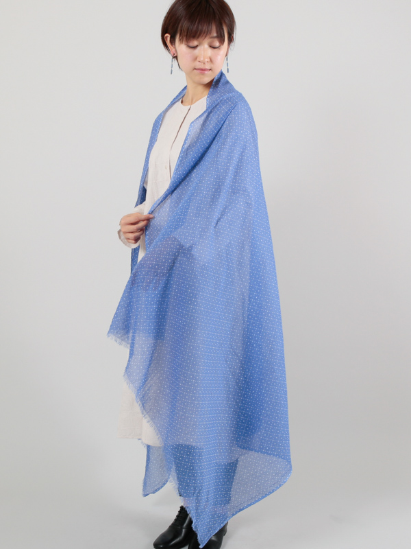 【SALE40】コットン小紋柄ショール