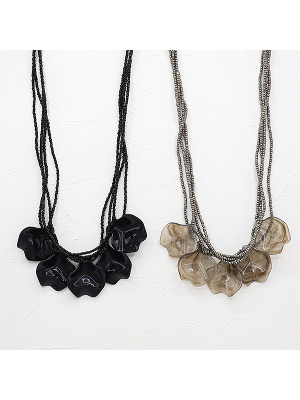【30%OFF】レジン花びらネックレス A21SPN004