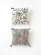 レオパード刺繍クッションカバー(2カラー) M26-1786