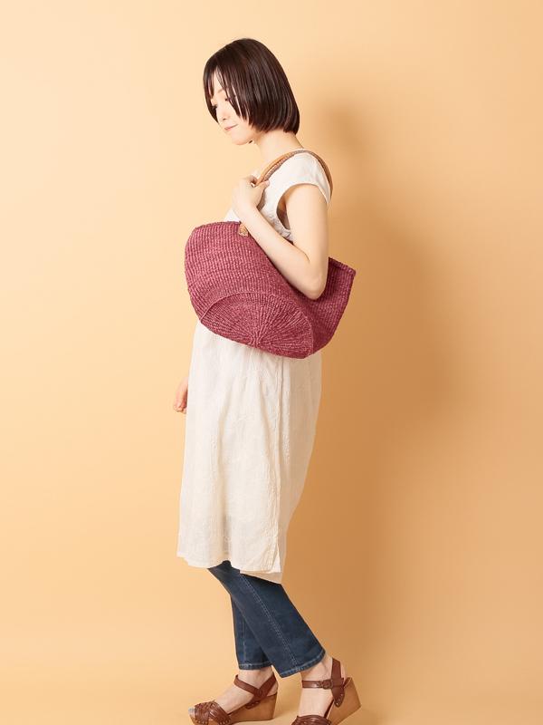 【30%OFF】サイザルバッグ(無地)Lサイズ パープルPL