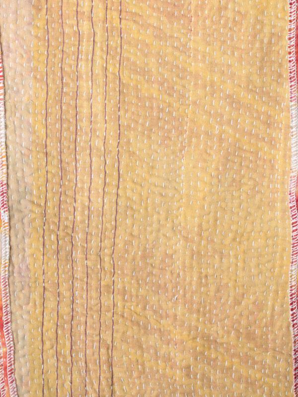 インド ラリーキルトショール(オレンジ系)