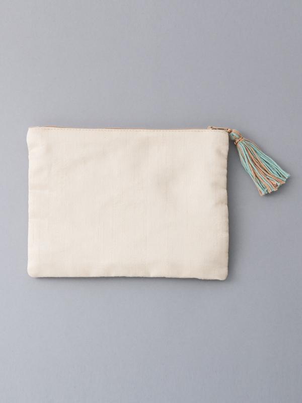 【再入荷】ビーズ刺繍フラットポーチ(2タイプ)