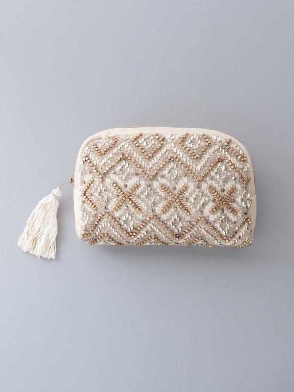【再入荷】ビーズ刺繍ポーチ(3タイプ)