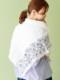 スクエア—刺繍ショール B21S047