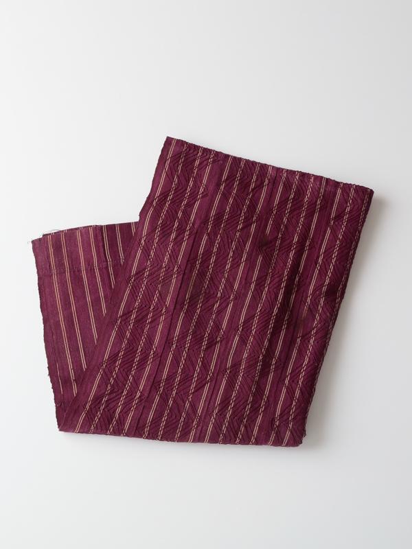 ヨルバ族 手織り布(ワインカラー)