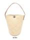 【SALE40】カリマンタンラタンバッグ丸底革1ハンドル(2カラー)