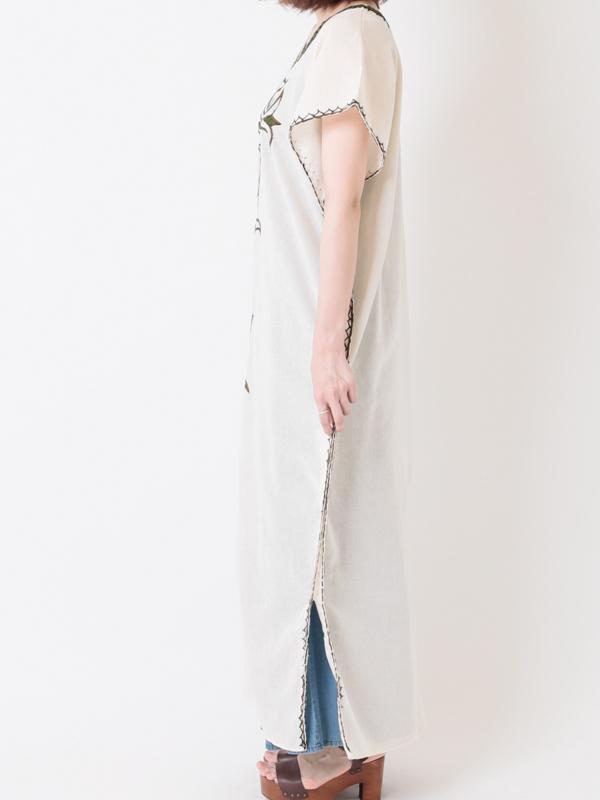 【40%OFF】エチオピア 手刺繍ロングワンピースC