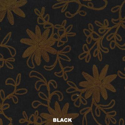 【30%OFF】コットンスラブ刺繍 ワンピース 21S704【ブラック/ナチュラル残りわずか】