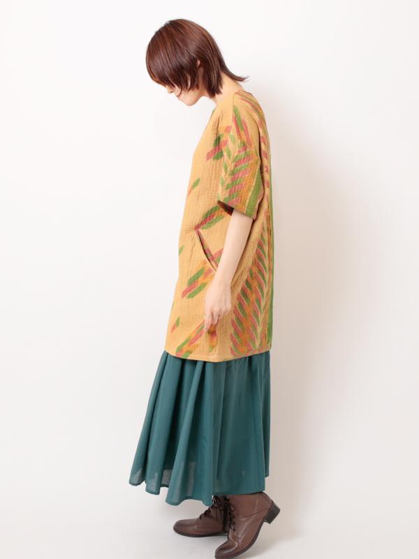【SALE50】ラリーキルト ワンピース(イエロー系)