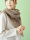 ウール葉柄刺繍ショール B20W068