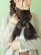 【SALE】ウール葉柄刺繍ショール B20W068