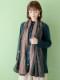【SALE】小花ハンド刺繍ショール B20W033