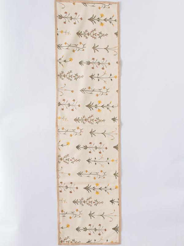 イエローフラワープリントテーブルランナー(2パターン)