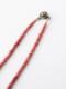 アンティーク ベネチアスカンク玉(赤に白)  ネックレス