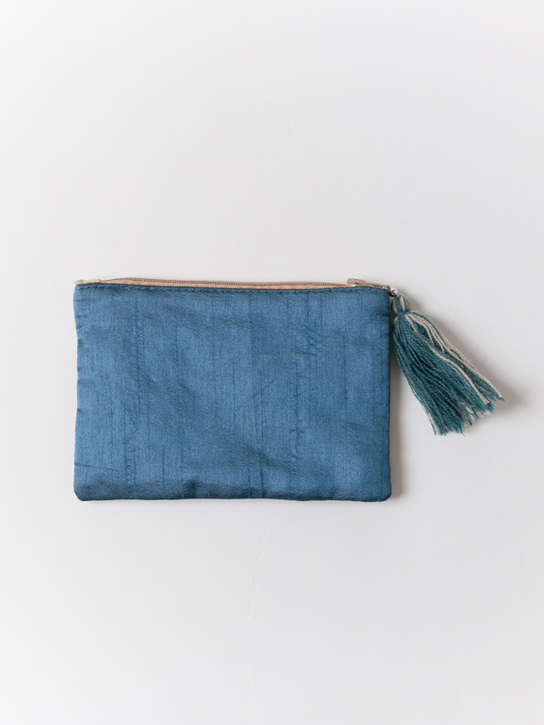 【再入荷】ビーズ刺繍ミニフラットポーチ(2タイプ)