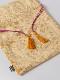 【セージ再入荷】ベロア花刺繍巾着ポーチ(3タイプ)