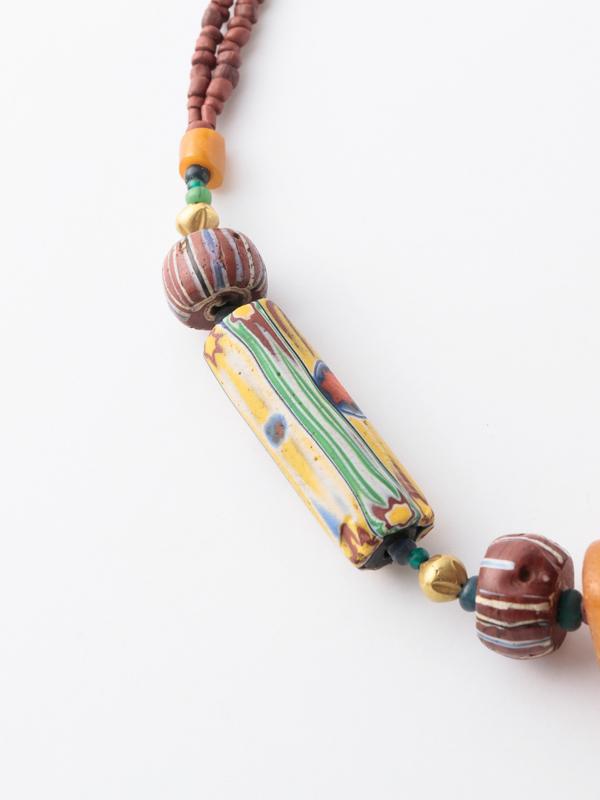 アンティーク アフリカ琥珀玉  ネックレス
