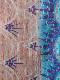 インド シルク刺し子ショール(ブルー系ミックス、リバーシブル)