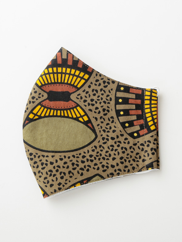 アフリカンプリントマスク ポケット付き