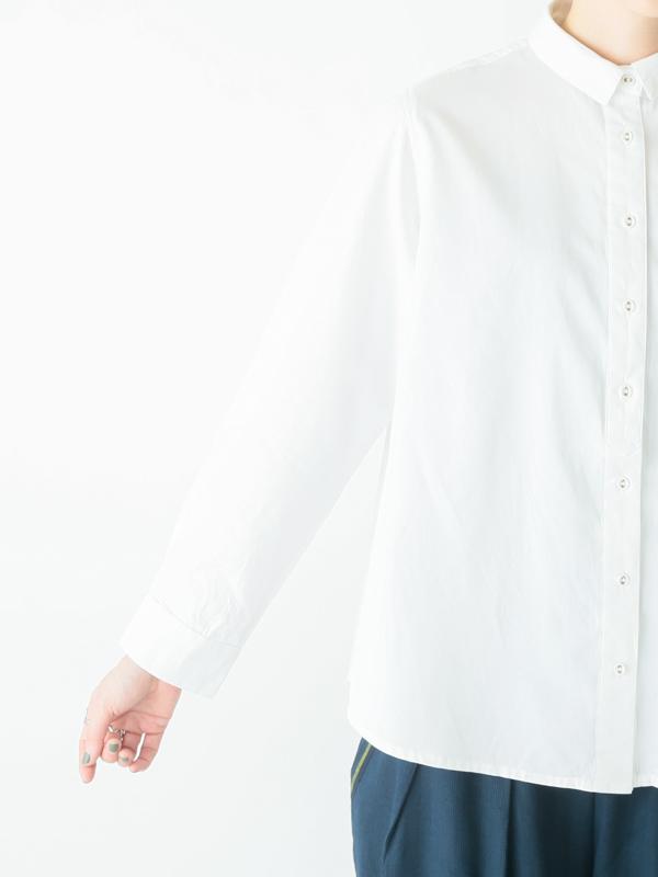 バイオウォッシュコットンツイル シャツ 21W016
