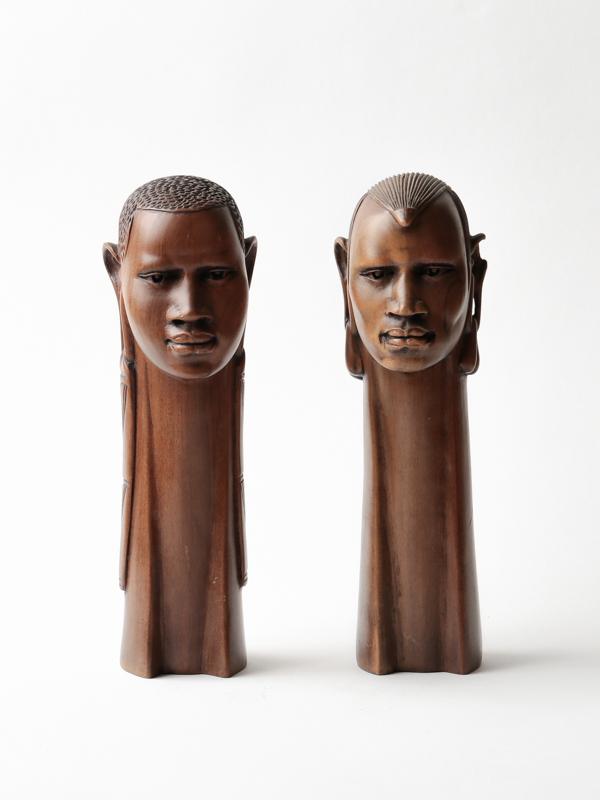 ケニア 胸像(ペア)