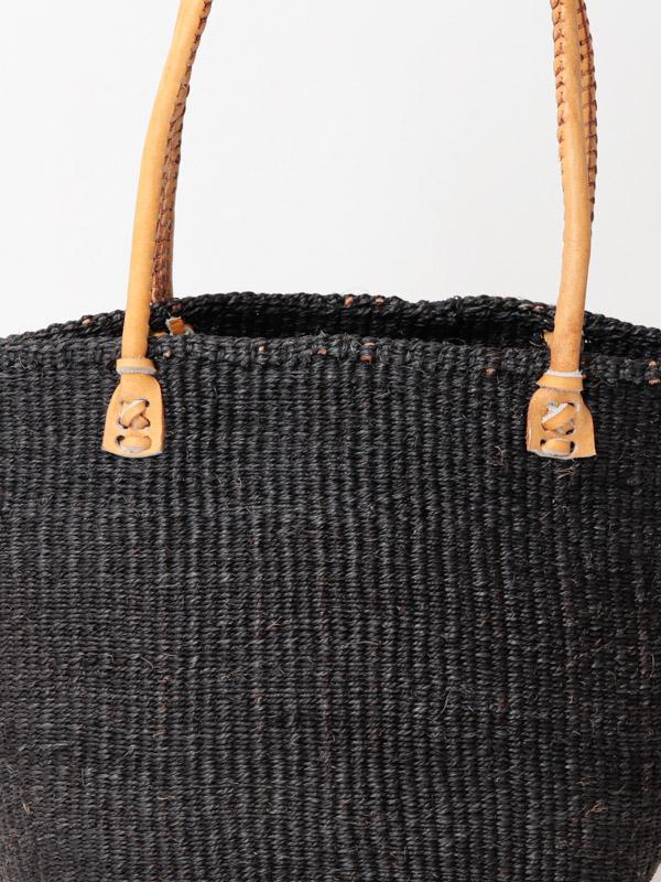 【SALE30】サイザルバッグ(無地)Lサイズ ブラックBK