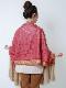 【SALE50】カシミール刺繍ウールショール(ピンク系)