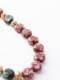 アンティーク ベネチアファンシー玉(赤に金) ネックレス