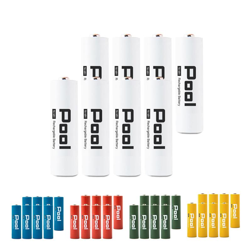 充電池 単3 形 8本 セット  収納ケース付<BR>Pool プール 大容量2150mAh!<BR>約1000回繰り返し使える  ニッケル水素電池 単3 電池 × 8本セット<BR>日本正規品販売代理店 <BR>ネコポス送料無料