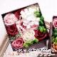 母の日 プレゼント ソープフラワー アレンジメント ソープフラワー 入浴剤 ギフト 女性 妻 彼女 誕生日 ボックス アンティークボックス バロック ロマンチックモーブ カフェオレ
