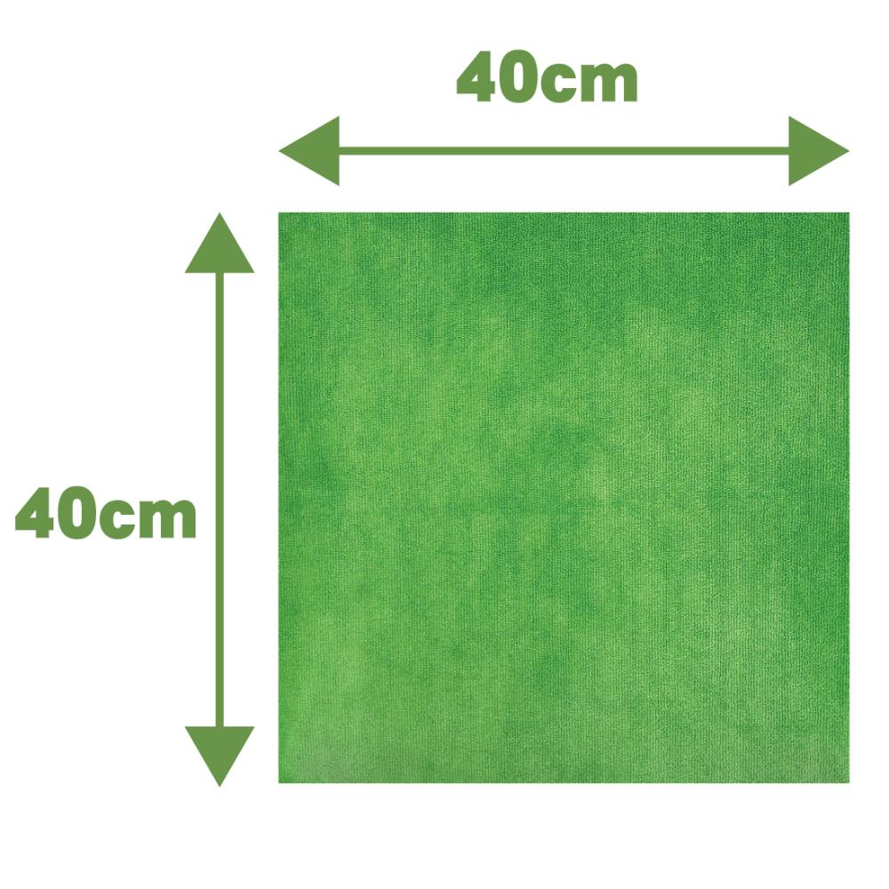 【洗車クロス】 【フチ無し加工】 AguaMirai スタンダード・マイクロファイバー洗車クロス 【グリーン 40x40cm 10枚セット】【ES-ST44G10-B】