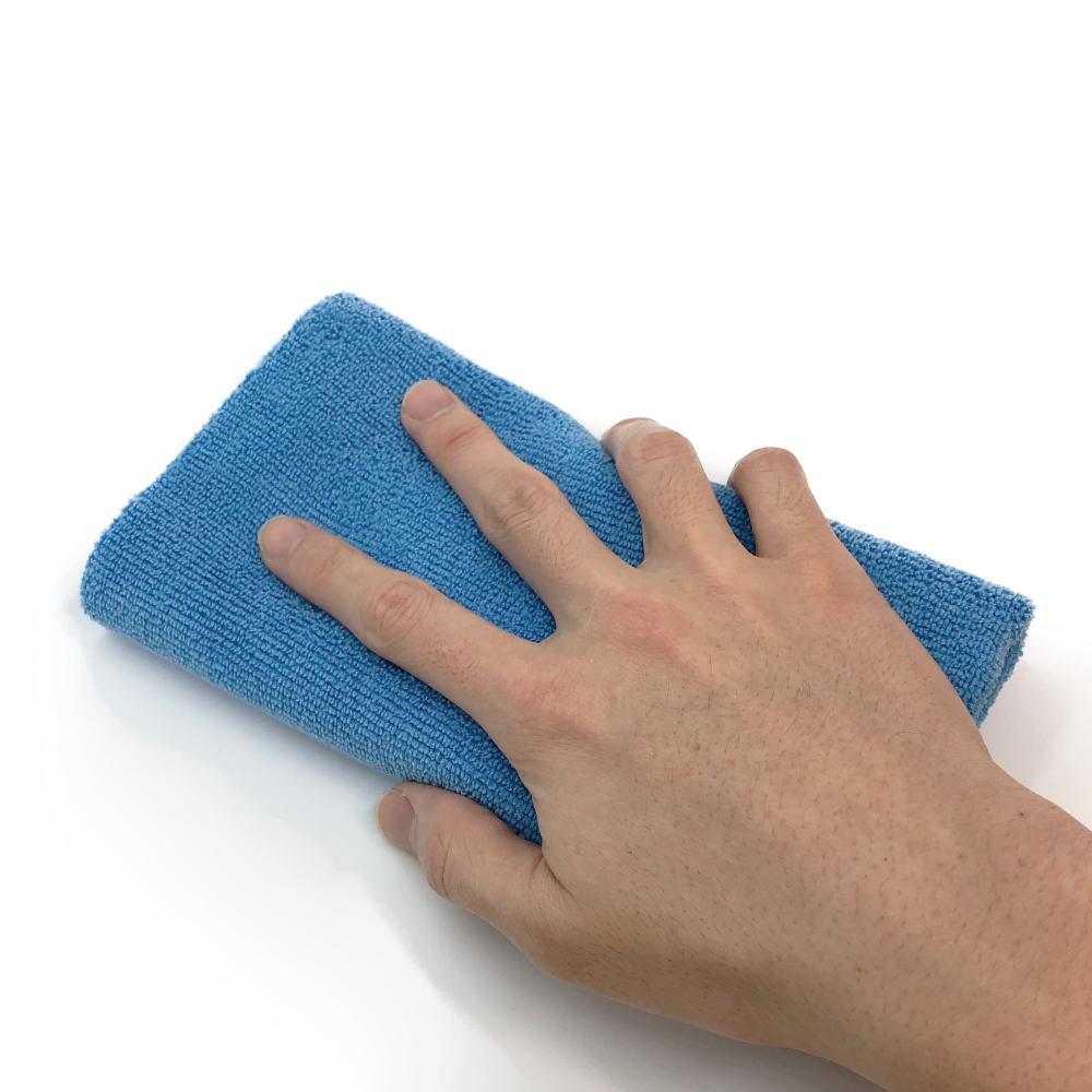 【洗車クロス】 【フチ無し加工】 AguaMirai スタンダード・マイクロファイバー洗車クロス 【ブルー 40x40cm 20枚セット】【ES-ST44B20-B】