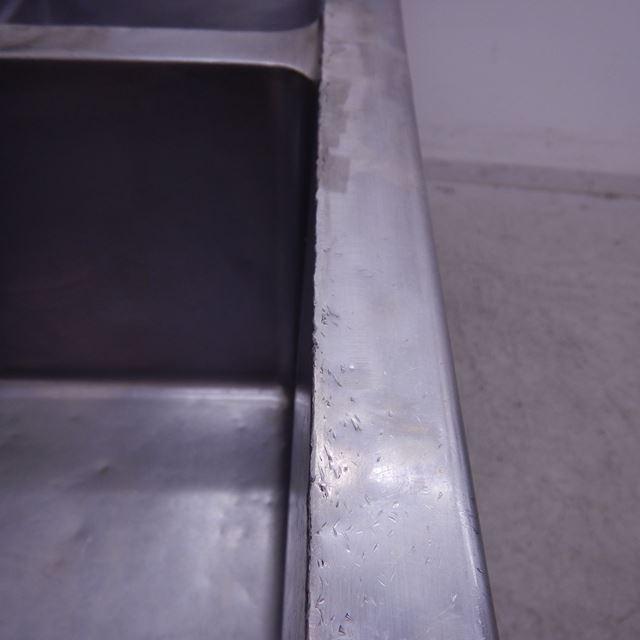 2槽シンク 中古 W1500×D600×H800(+150) バックガードあり
