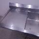 1槽シンク 中古 W1500×D700×H700(+160)  水切り付き バックガードあり