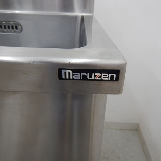 マルゼン ダスト付き2槽シンク 中古 W1500×D600×H800(+150) BGあり