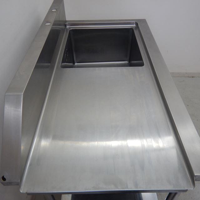 ソイルド1槽シンク 中古 W1230×D650×H800(+150) バックガードあり