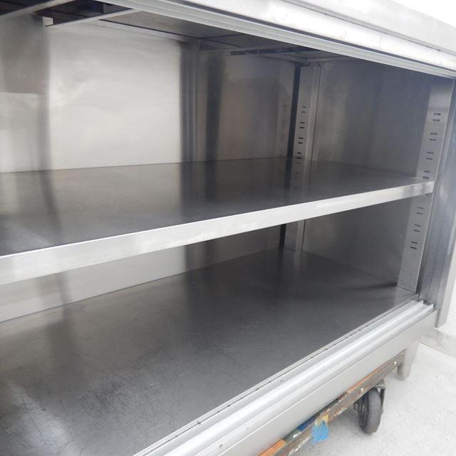 調理台 中古 W1200×D600×H800 引き戸欠品 バックガードなし