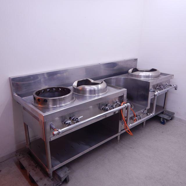 マルゼン 中華レンジ 中古 MRS-104C  LPガス 4口 餃子 炒め スープ ゆで麺