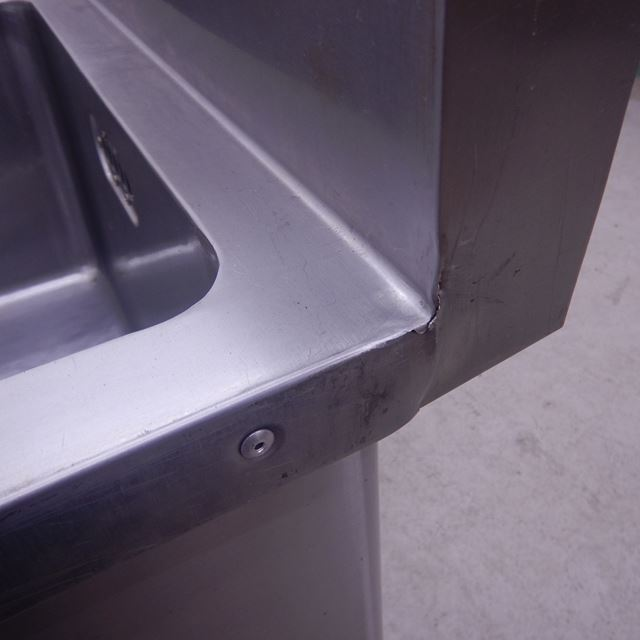マルゼン 2槽シンク 中古 W1500×D600×H800(150) 水切り付き バックガードあり