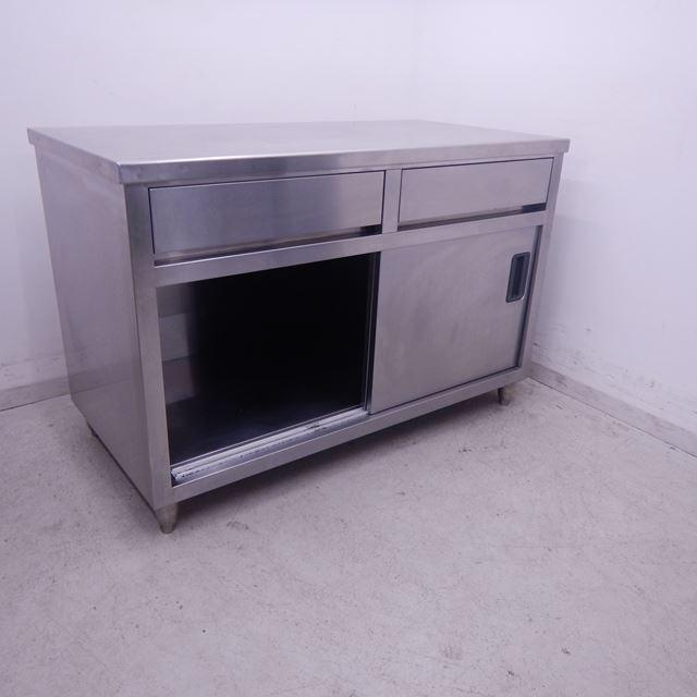 調理台 中古 W1200×D600×H800 引き出し2個付き