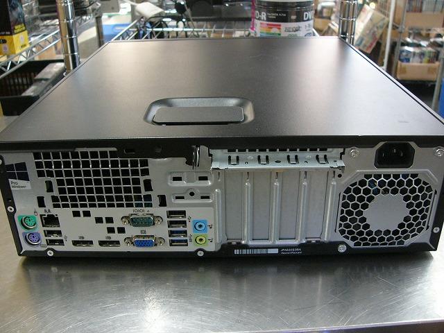 【中古】hp EliteDesk 705 G1 SFF (A8Pro-7600B/4GB/500GB/DVD-ROM/Win10 Pro)