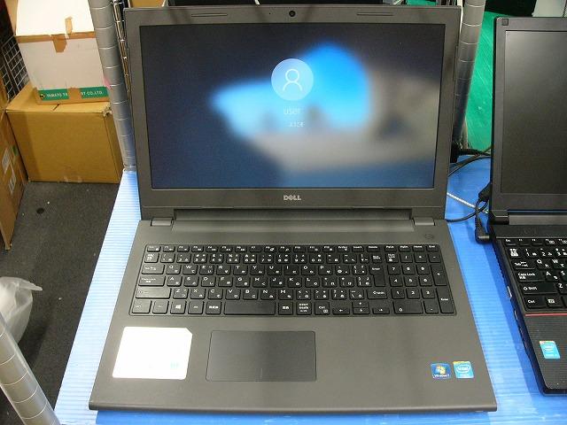 【中古】Dell Vostro 15 3549 (Cel 3205U/4GB/500GB/DVD-SM/15.6inch HD/無線LAN/Win10 Pro)